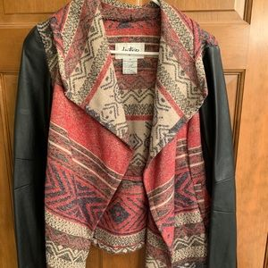 Daytrip Faux Leather Aztec Over-piece